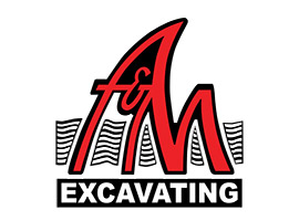 AM Excavating Logo